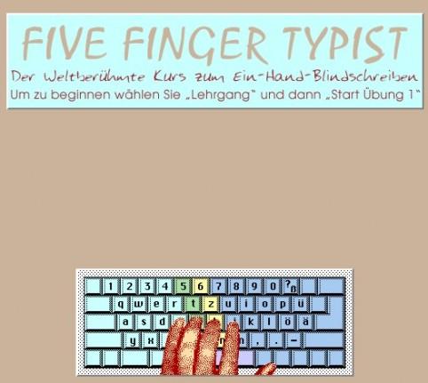 Five Finger Typist Schreib-Lehrgang