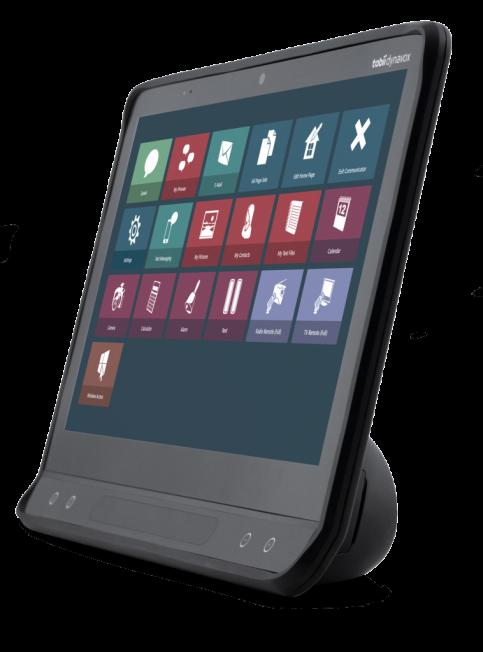 TobiiDynavox I-16 schräge Ansicht mit Communicator 5
