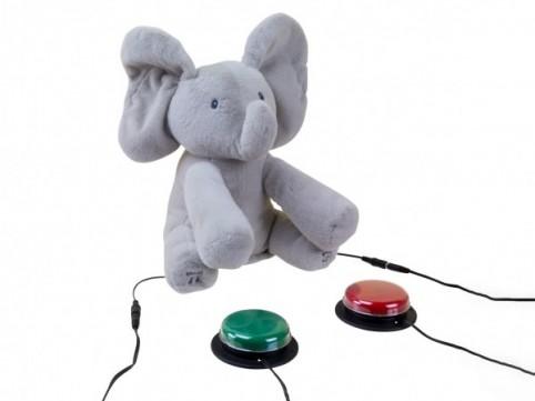 Adapiertes Spielzeug Elefant Flappy