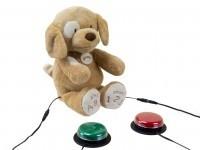 Adapiertes Spielzeug Hund Spunky