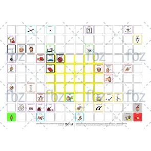 PCS-Kommunikationstafel (A3) mit 40 Feldern und 100 Freifeldern